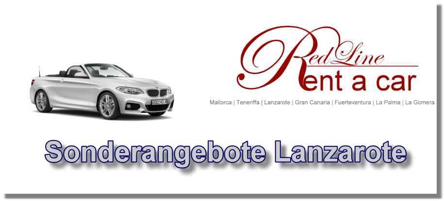 Autovermietung Lanzarote Red Line Rent a Car Mietwagen Sonderangebote Lanzarote