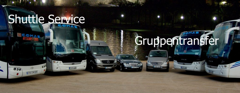 Shuttle Service und Gruppentransfers Mallorca